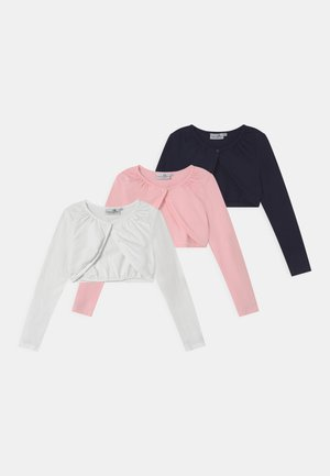 BOLERO 3 PACK - Strickjacke - navy/ivory/rose