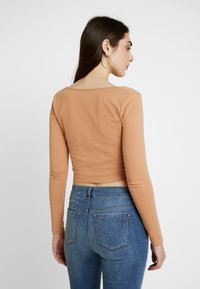 Even&Odd - 2 PACK - Long sleeved top - camel/black