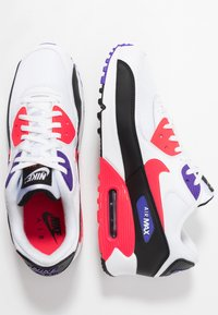 Nike Sportswear - AIR MAX 90 ESSENTIAL - Trainers - white/red orbit/psychic purple/black - 1