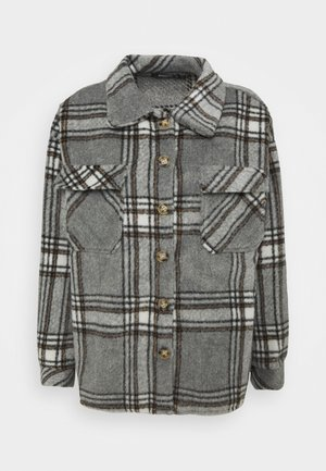 BRUSHED CHECK SHACKET - Košile - grey