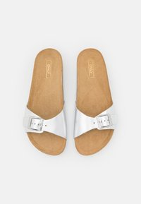 ONLY SHOES - ONLMADISON LEATHER SLIP  - Slippers - silver - 5