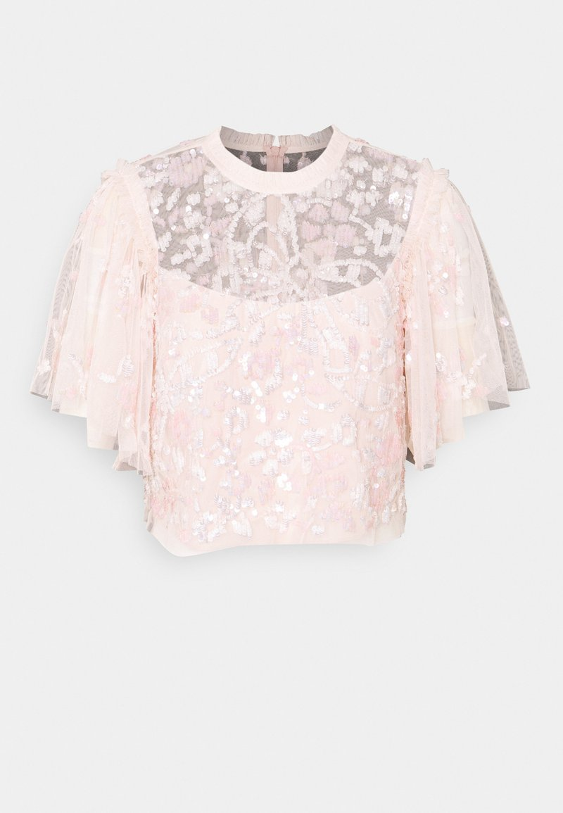 Needle & Thread - SEQUIN RIBBON TOP - Bluse - pink encore