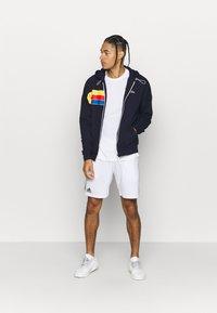 Lacoste Sport - RAINBOW JACKET - Zip-up hoodie - navy blue/wasp/gladiolus/utramarine/white - 1