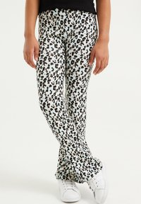 WE Fashion - MET LUIPAARDDESSIN - Legging - off-white - 1