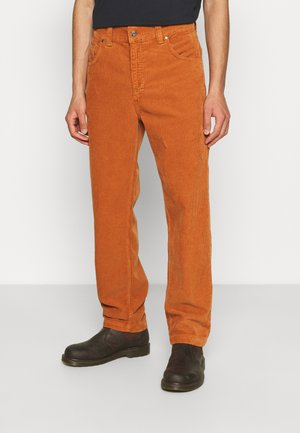 PANT WITH LOGO - Trousers - rust
