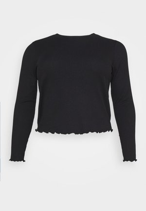 VMBREA LS CROPPED - Long sleeved top - black