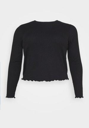 VMBREA LS CROPPED - Top sdlouhým rukávem - black