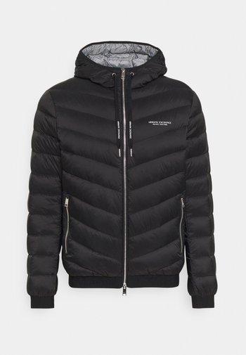 JACKET - Down jacket - black/melange grey