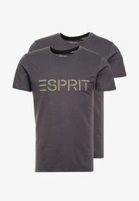 Esprit - ICON 2 PACK - T-shirt z nadrukiem - anthracite - 3