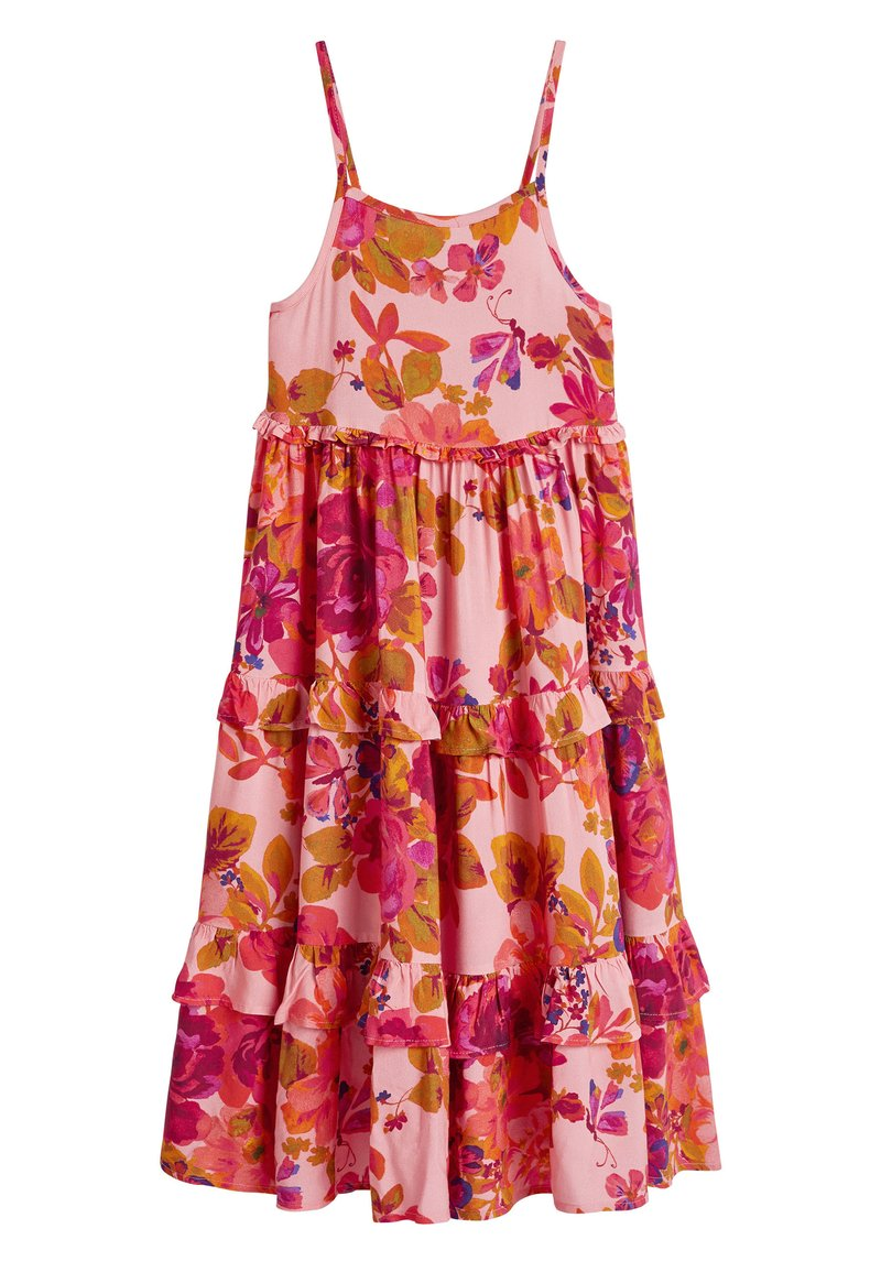 Next - PINK ROSE STRAPPY MAXI DRESS (3-16YRS) - Maxi šaty - pink