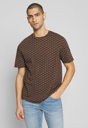 LOUVRE TEE - T-shirt print - black/brown