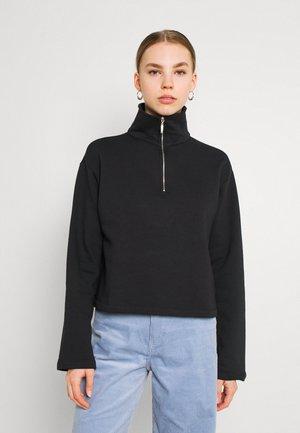HALF ZIP UP - Sweatshirt - black