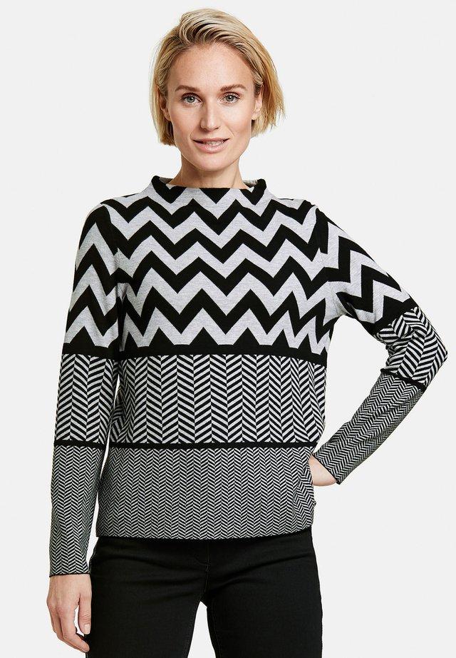 MIT MUSTERMIX - Jumper - frost grey/ schwarz gemustert