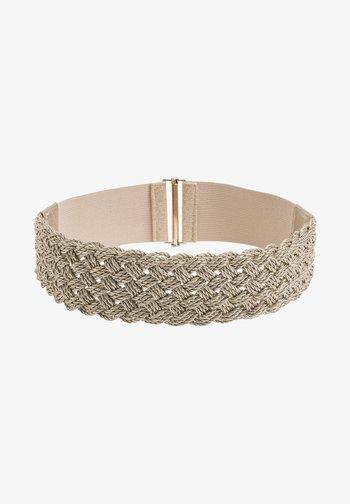 GLÄNZENDER - Braided belt - gold