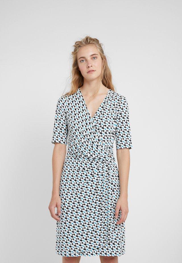 FAUX WRAP DRESS - Jersey dress - cerulean combo