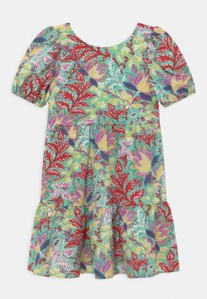 GIRLS PUFF SLEEVE TIERED DAY IN FLORAL PRINT - Denní šaty - multi-coloured