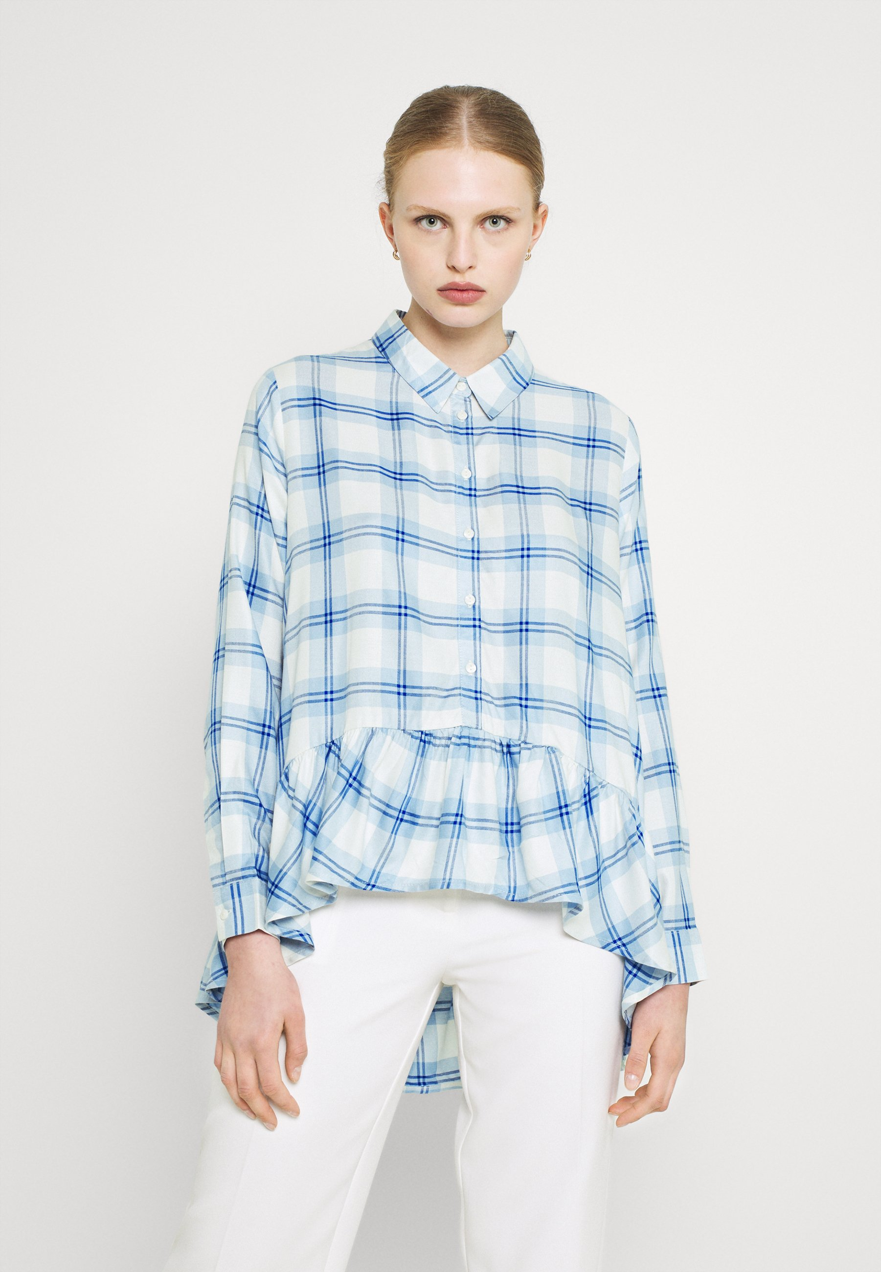 Women JDYSTAY HIGH LOW SOLID - Button-down blouse