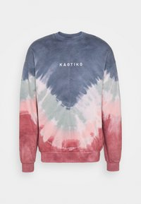 Kaotiko - UNISEX- CREW TIE DYE BUSTER - Sweatshirt - dark blue - 4