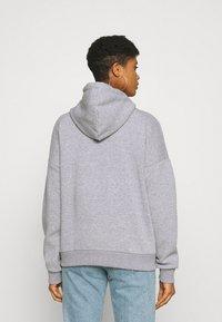 Even&Odd - OVERSIZED HALF ZIP SWEAT  - Hoodie - mottled light grey - 2