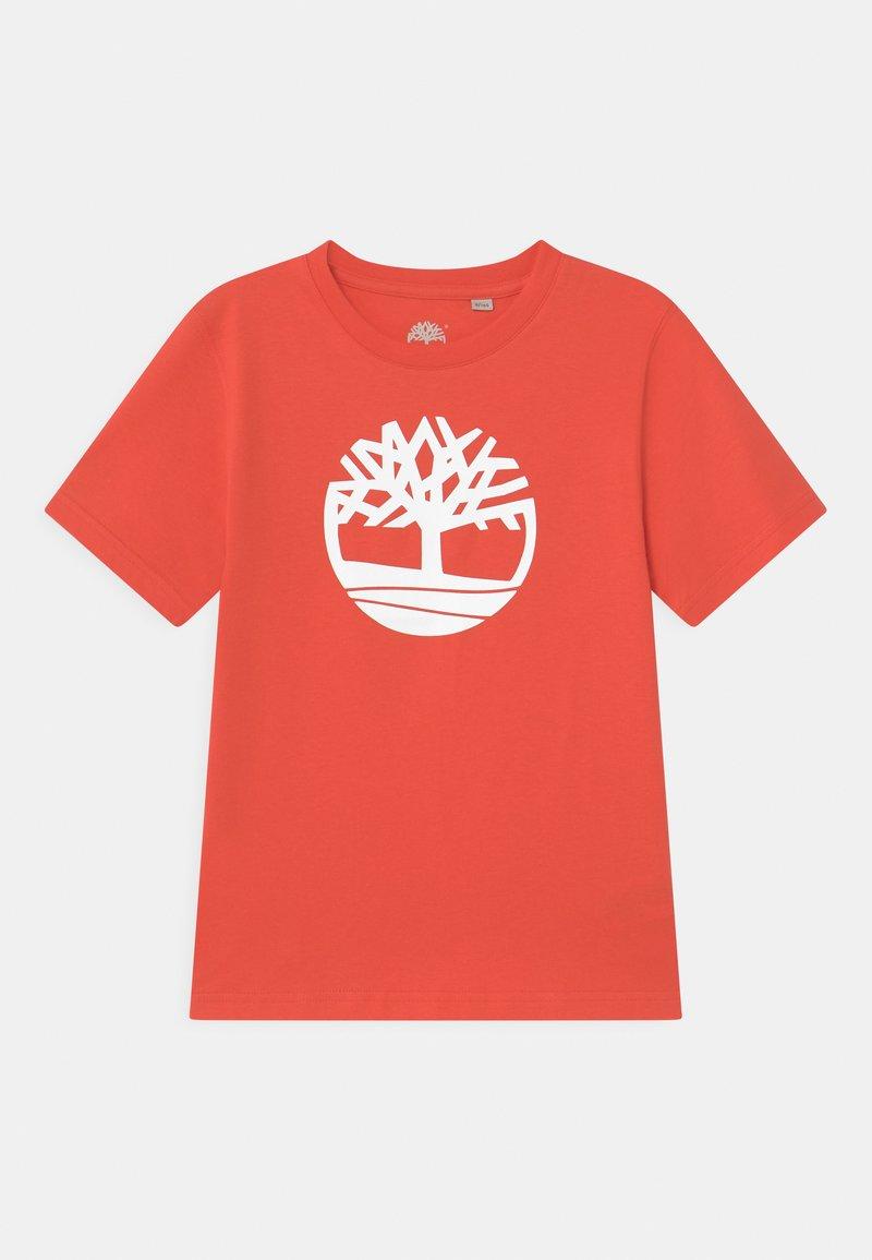 Timberland - SHORT SLEEVES  - Print T-shirt - red