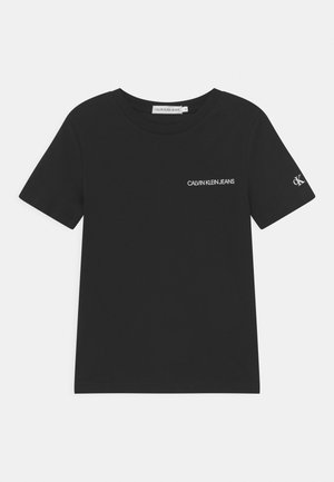 CHEST LOGO - T-shirt - bas - black