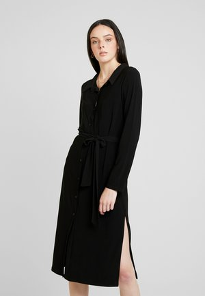 TIE SLIT DRESS - Trikoomekko - black