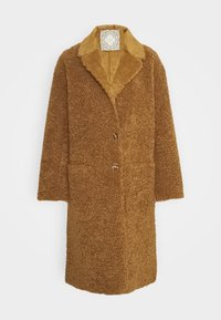 LONG REVERSIBLE JACKET - Winter coat - camel