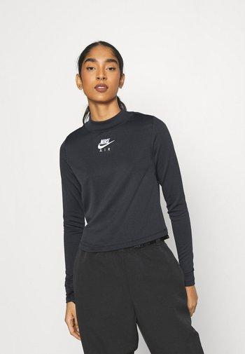 AIR MOCK - Long sleeved top - black/iron grey/white