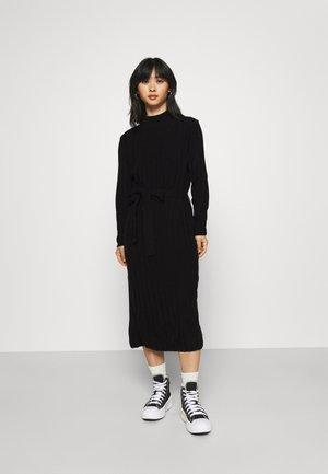 ONLNEW TESSA O-NECK DRESS - Neulemekko - black