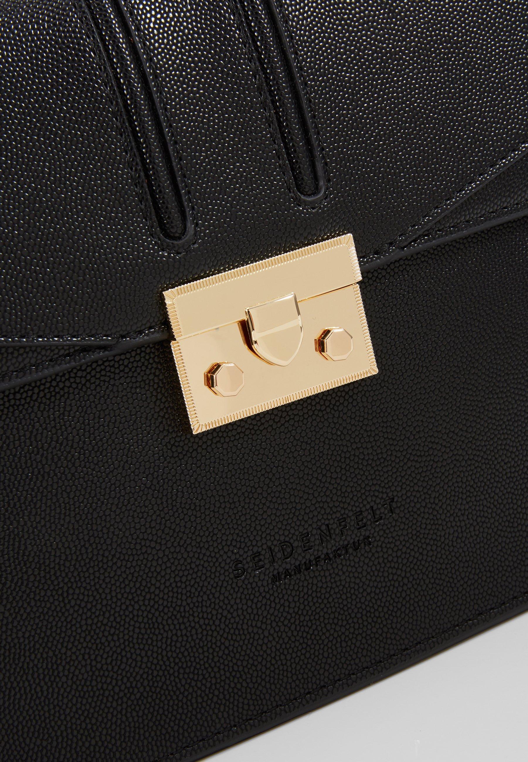 Seidenfelt Roros Big - Umhängetasche Black/ Gold-coloured/schwarz