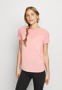 ONLY Play - Camiseta estampada - strawberry pink/white gold - 0