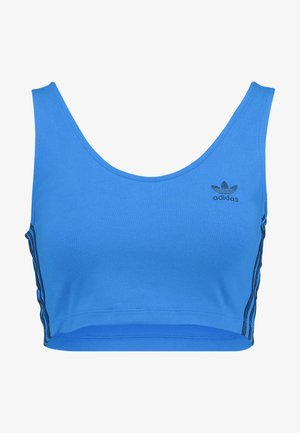 ADICOLOR 3 STRIPES CROPPED TANK - Top - bluebird