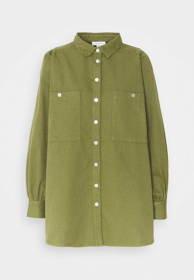 CASUAL - Button-down blouse - olive