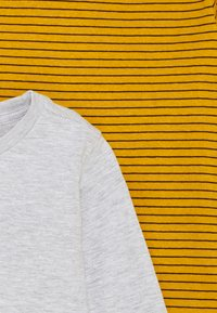 Cotton On - CORE LONG SLEEVE 2 PACK - Top s dlouhým rukávem - honey gold phantom stripe/grey marle - 3