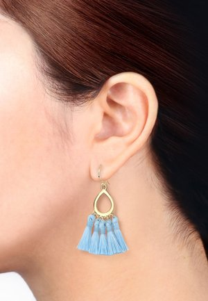 TASSEL BOHO ORNAMENT FESTIVAL  - Earrings - light blue