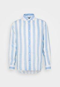 Frescobol Carioca - LINEN STRIPED SHIRT - Košile - light blue/white - 5