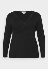 Anna Field Curvy - Long sleeved top - black - 3