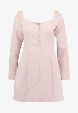 SWEETHEART NECKLINE BUTTON MINI DRESS - Shirt dress - dusky pink