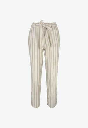 Trousers - brown beige stripe