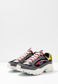 Skechers Sport - STAMINA - Trainers - charcoal/ red/yellow/ blue - 4