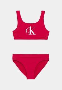 Calvin Klein Swimwear - BRALETTE SET - Bikini - pink heart - 0