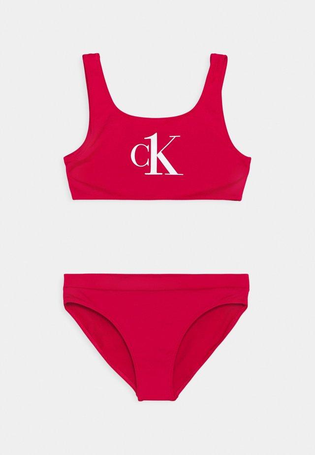 BRALETTE SET - Bikini - pink heart