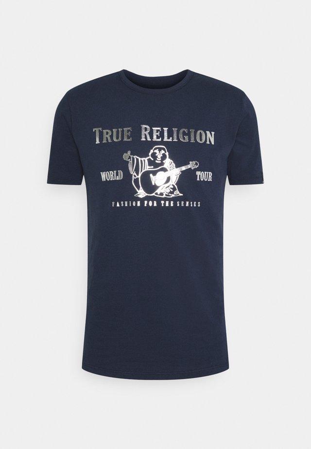 CORE LOGO TEE - Print T-shirt - navy