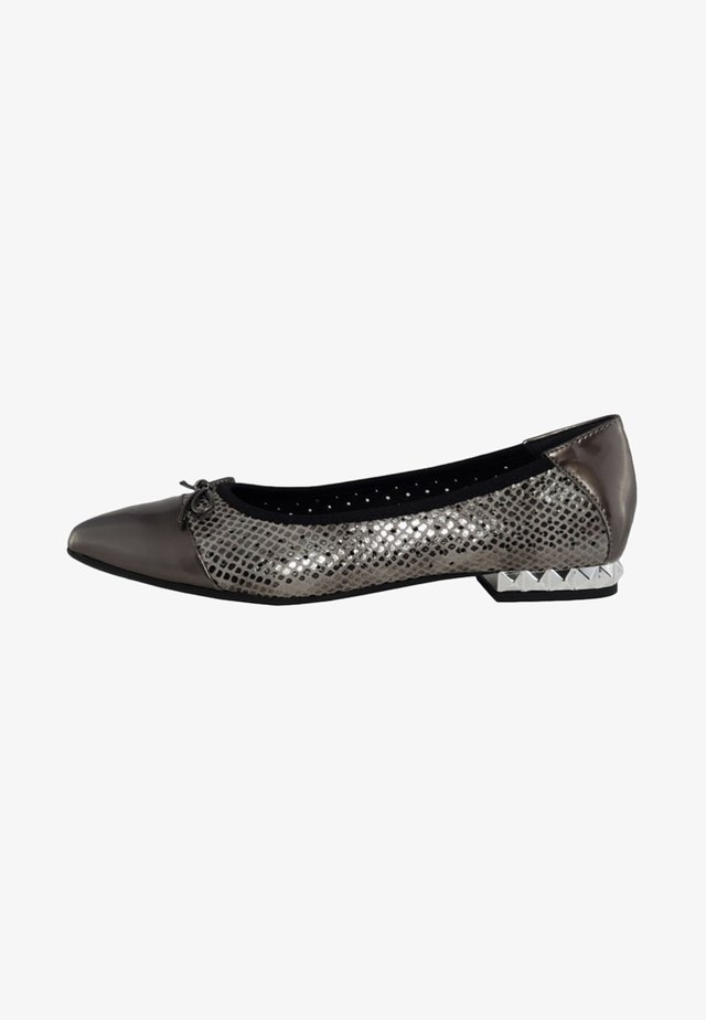 Ballet pumps - grey/silver