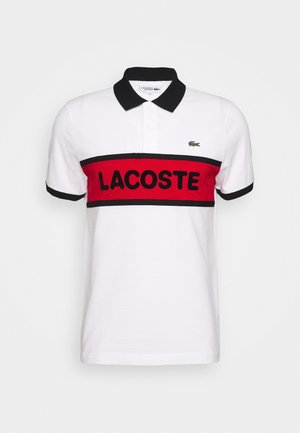 BLOCK LOGO - Polo shirt - white/red/black