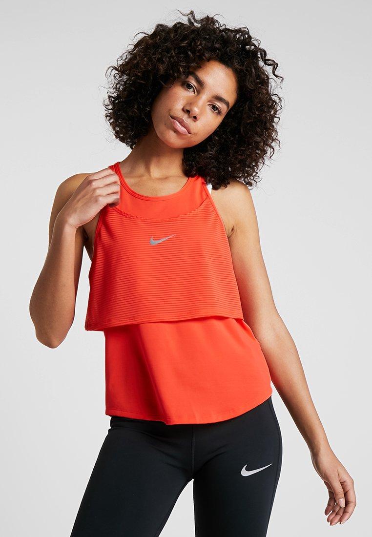 Nike Performance - TANK BREATHE - Sports shirt - bright crimson/reflective silver