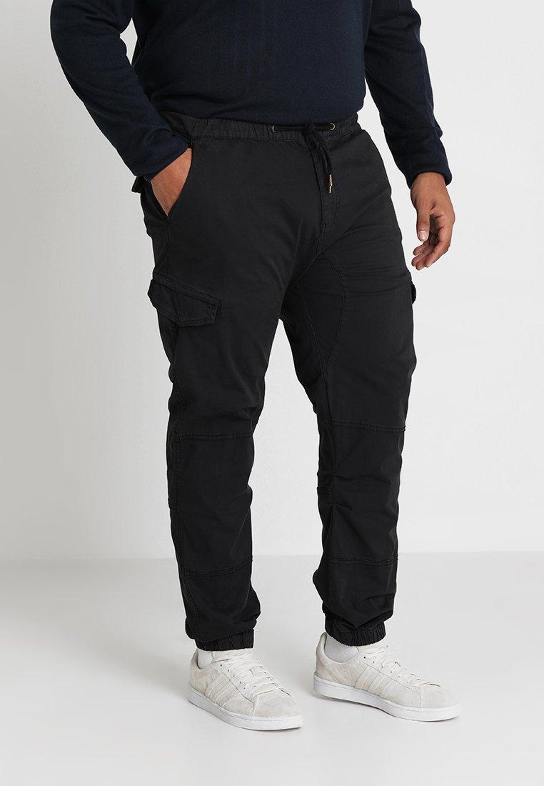 INDICODE JEANS - LEVI PLUS - Cargo trousers - black
