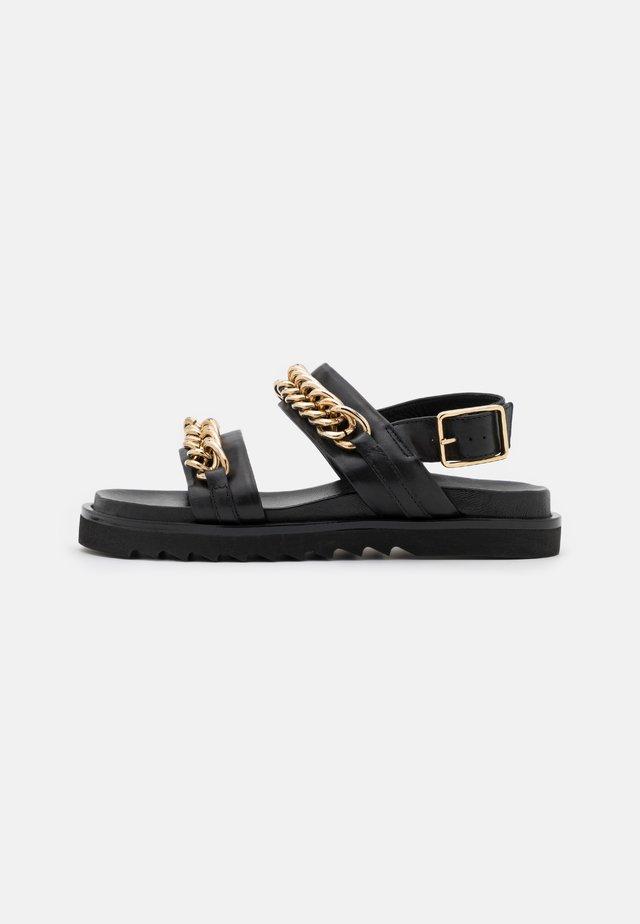 Sandaler - black/gold