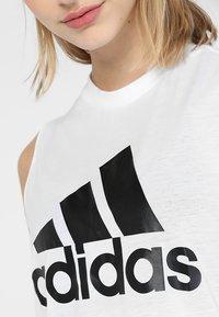 adidas Performance - MUST HAVES SPORT REGULAR FIT TANK TOP - Koszulka sportowa - white/black - 5
