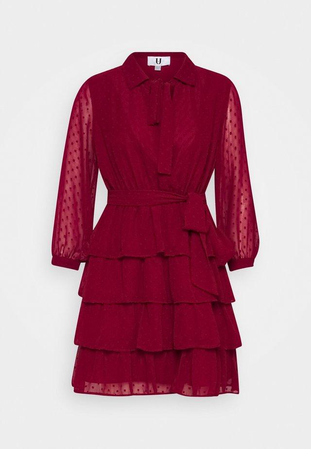 Shirt dress - burgundy